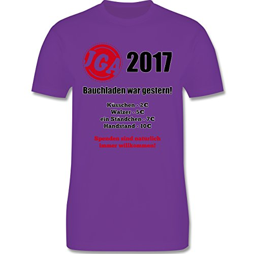 JGA Junggesellenabschied - Bauchladen war gestern! 2017 - Herren Premium T-Shirt Lila