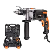 Hammer Drill, TACKLIFE 850W 3000 RPM Impact Drill with 15 Drill Bit Set,Storage