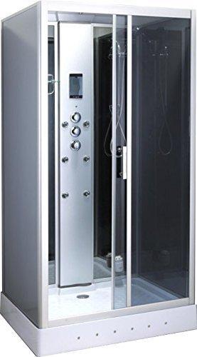 Ciclamino Cabine de douche hydromassante rectangulaire avec lumière intérieure modèle de luxe...