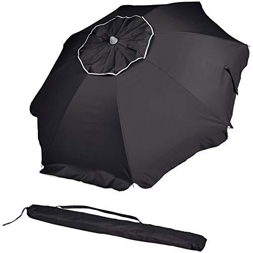 AmazonBasics - ombrellone da spiaggia, Nero