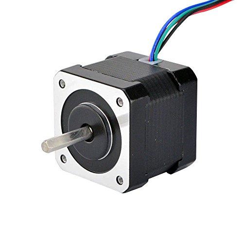 STEPPERONLINE Nema 17 Schrittmotor 45Ncm 1.8deg w/ 1m Kabel & Verbinder für 3D Drucker Reprap Hobby CNC Roboter