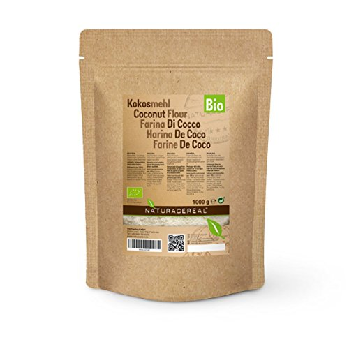 Coconut Flour - NATURACEREAL - Low-Carb Organic Coconut Flour 1kg - gluten free - adds an exotic flavor to your dishes