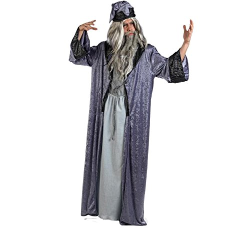 Halloween Kostüm Mascarada - Mascarada  MA618 - Zauberer Merlin Kostüm Herren 2-Teilig, Gewand und Zaubererhut - M