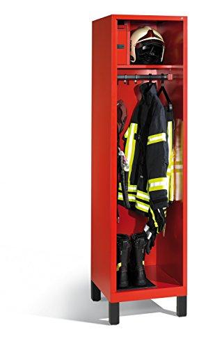 feuerwehrschrank Feuerwehrschrank Evolo mit Wertfach, 1 Abteil, H1850xB520xT600mm