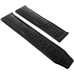 Maurice Lacroix Pontos Louisiana Replacement Band Watch Band Leather black leather without Symbol 21729, width:20mm
