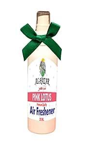 Al Hazar Car Air Freshener and Odour Eliminator Smell Scent Perfume Pump Spray -Fragrance Pink Lotus 200 ml