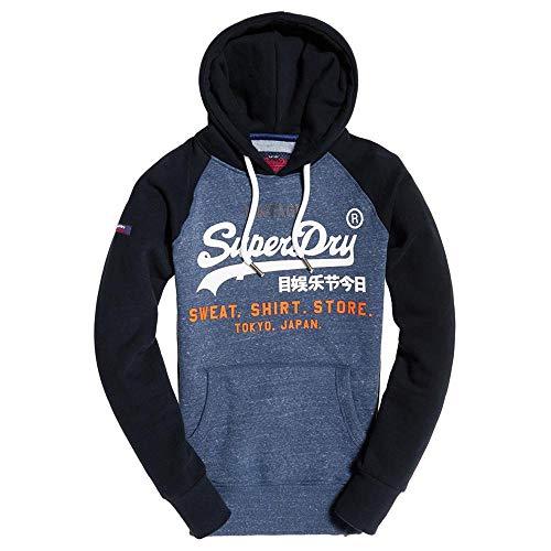 Superdry Herren Sweatjacke Store weiß XL - Raglan Hoodie Sweatshirt