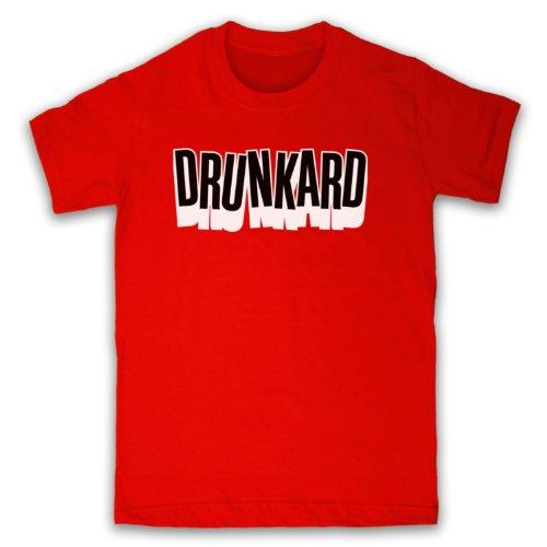 Drunkard Funny Slogan Herren T-Shirt Rot