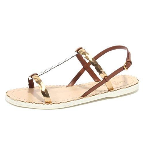 B2394 sandalo donna CAR SHOE scarpa platino/argento flip flop shoe woman [37]