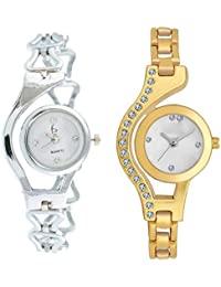 Exotica Watch With Chain Belt | Beautiful Silver & Gold Colored Belt & Dial | Fabulous Look | Casual | Party-Wedding...