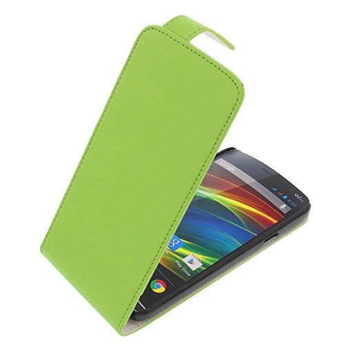 Tasche für Wiko Slide Flipstyle Schutz Hülle Handytasche grün