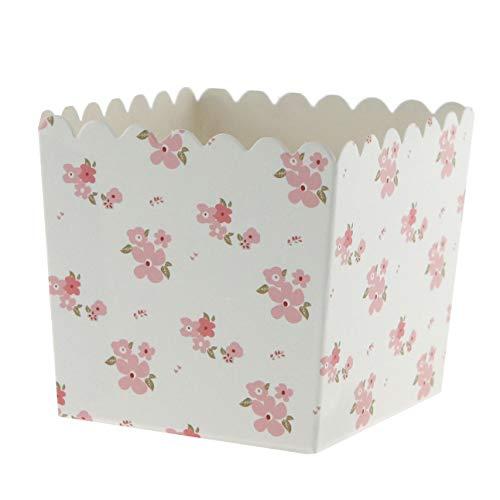 6 Partyboxen Florali, Pappschachteln für Süßigkeiten und Geschenke Floral Becher