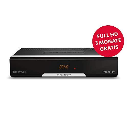 THOMSON THT740 DVB-T2 Receiver - digitaler HD Empfänger, freenet TV, Antennen-Receiver, HEVC H.265 Decoder, HDMI, USB, SCART, Dolby, Display - schwarz