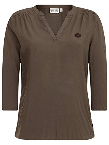 Damen T-Shirt Naketano Diese Motzfotz T-Shirt Dark Olive