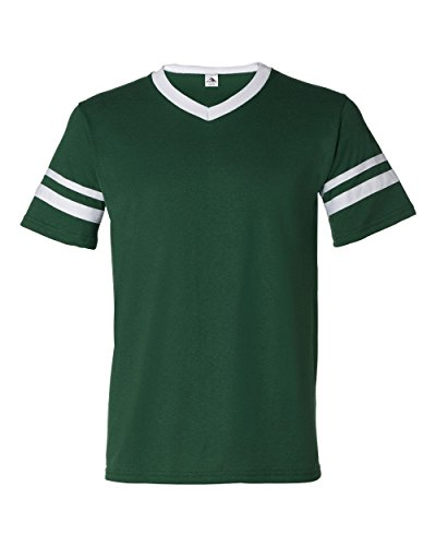 Augusta Sportswear xl Dark Green/White (Double-knit V-neck)