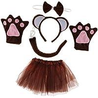 Prettyia 5 Piezas Colección de Disfraces Cumpleaños de Chicos Diseño Mono para Mujer Chica Traje Animales Día de Niños