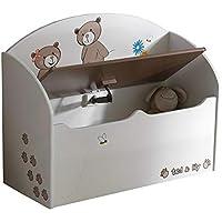 Preisvergleich für habeig Spielzeugtruhe beige/Chocolate Truhe Spielkiste Kinderbank für Kinderzimmer