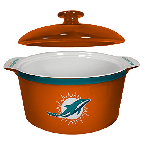 NFL Miami Dolphins Game Time Oven Bowl, 2.4 quart, Teal