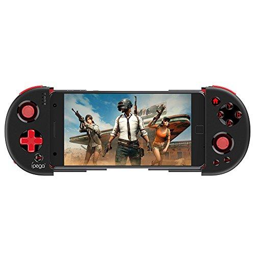 Ipega PG-9087 Manette Android Red Samurai Bluetooth Gamepad Contrôleur de Jeu Extensible Joystick sans Fil Wireless Gamepad Smartphone jusqu'à 6.2 Pouces Télécommande pour Android/PC