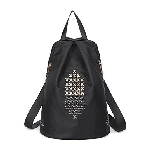 Lightweight Oxford Travel Rucksack Ladies leisure Shopping Dating Fashion niet Pack Tasche style 2