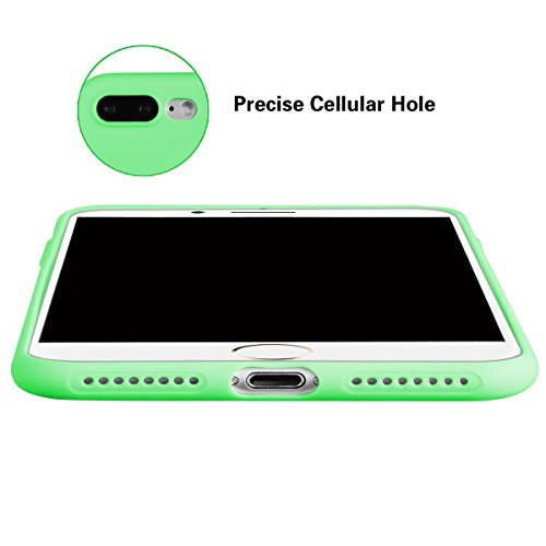 Cover iPhone 7 Plus (5.5),ToDo iPhone 7 Plus Custodia Silicone Ultra Morbido Satinate Opaco Ultra Sottile TPU Flessibile Gomma Cassa Protettiva Gel [Anti-scivolo] [Anti-Graffio] [Antiurto] Leggero Ce Viola + Verde + Giallo