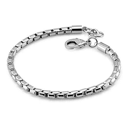 ling Silber Armband Für Jungen Fashion Solid 925 Silber 5 Mm 20   cm Schlangenkette Armband Punk Stil ()
