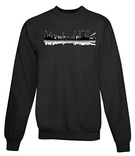 Billion Group | Silhouette Of Rome | City Collection | Women's Unisex Sweatshirt Noir