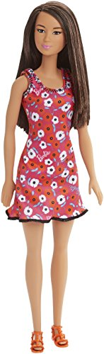 Asian Girl Kostüm - Mattel Barbie Doll - Red Dress with Flowers, Asian Girl (Dvx90)