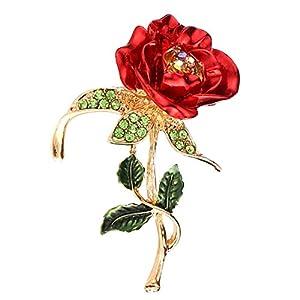 Bllomsem Brosche Damen,Muttertagsgeschenk Armband, Rose Diamant Legierung Brosche Muttertag und Geburtstag (Rose)