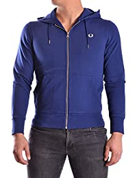 Fred Perry Homme MCBI128025O Bleu Coton Sweatshirt