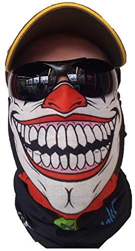SVoKI CLOWN HALSTUCH MASKE Schal Schlauchtuch Kälteschutz Gesichtsmaske Halloween Motorrad Ski Snowboard Jagen Angeln Motorrad Fahrrad Paintball