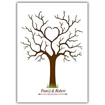 fingerabdruck baum mit eule leinwand 30x40cm wedding tree g stebuch spiel hochzeit geschenk. Black Bedroom Furniture Sets. Home Design Ideas