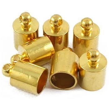 Bohrung 5,4 x 5,3 x 2 cm PandaHall Elite /& reg 304 Kabelenden aus Edelstahl 1mm; 3,5 mm Innendurchmesser; Vorratsbeh/älter 9x4mm