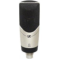 Sennheiser MK4Juego Diafragma grande de condensador cardioide Micrófono con mks4Suspensión, y popguard