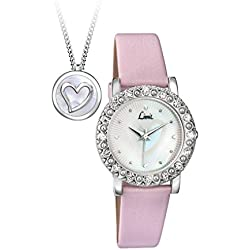 Limit Women's Quartz Watch with White Dial Analogue Display and Pink PU Strap 6004G.00