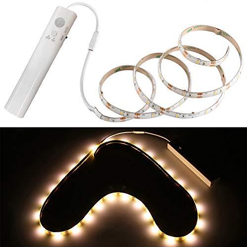 Preisvergleich Produktbild Allright 1m LED Stripe BatterieBetrieben Nachtlicht mit PIR-Bewegungsmelder Lichtband Streifen Batteriebetrieb Band