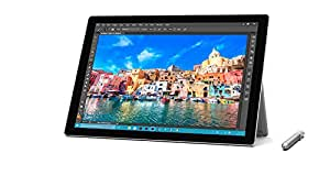 Microsoft Surface Pro 4 12.3 inch Tablet with Pen (Intel Core i5-6300U 2.4 GHz, 8 GB RAM, 256 GB SSD, Integrated Graphics, Windows 10 Pro) - Silver
