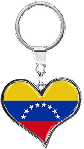 metALUm Schlüsselanhänger aus Metall / Flagge Venezuela / 6611079S