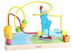 Iwood- Laberinto para Bebé de Madera Diseño Estatua de la Libertad, (12015)