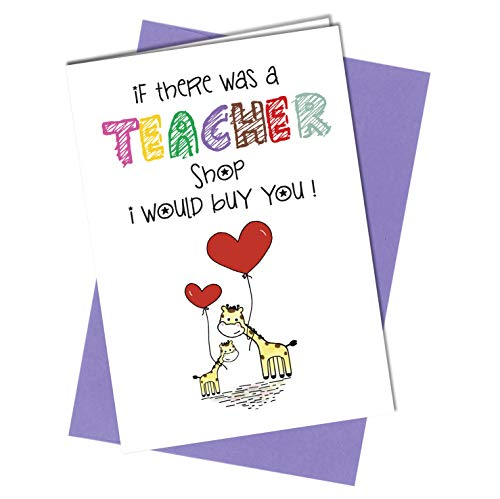 Schullehrer/Lehrer Shop Grusskarte Dankeskarte Schulabschiedskarte #740