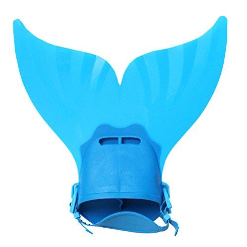 ShiyiUP Meerjungfrau Flosse für Kinder Mädchen Jungen Mehrfarbige Wasserspielzeuge Schwimm Hilfsmittel Taucherflossen,Blau