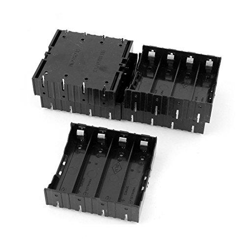 Preisvergleich Produktbild Batterie Halter fuer 4 x 3.7V 18650 Batterie - SODIAL(R)5 Stk. Li-Ionen Akku DIY Plastik Halter fuer 4x3.7V 18650 Batterie