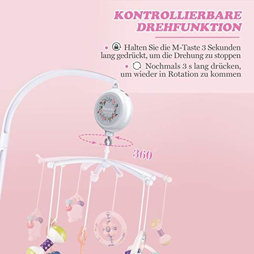 【Neue Version】TopElek Elektrische Baby Spieluhr mit 128 MB Micro-SD-Speicherkarte(Erweiterbar bis 2 GB) für Ihr Babymobile, 12 Melodien inklusive. - 6