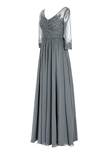 Dresstells, robe longue de mère de mariée, robe de soirée formelle manches 3/4, robe de demoiselle d'honneur Bordeaux