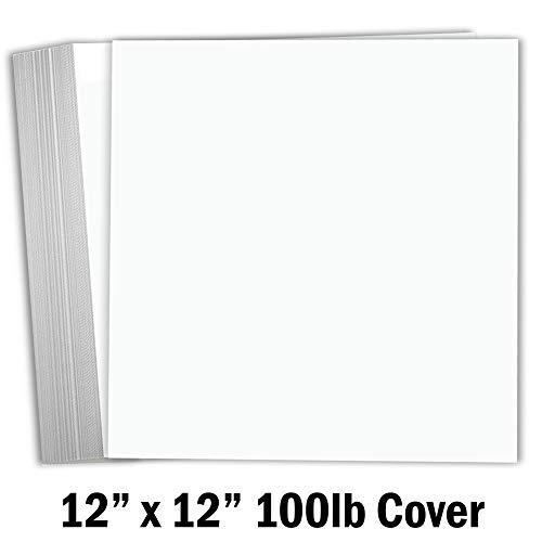 Hamilco Scrapbook-Papier, 30,5 x 30,5 cm, 25 Stück, Weiß (Scrapbook-papier Inspirierende)