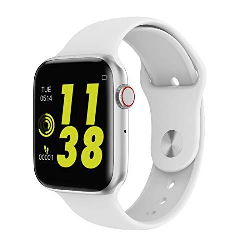 QINGPISHU W34 1,54 Zoll IPS-Farbbildschirm Smart Watch, Unterstützung Call Reminder/Herzfrequenzüberwachung/Sleep-Monitoring/Sedentary Erinnerung/EKG-Überwachung Sehen (Farbe : Silver)