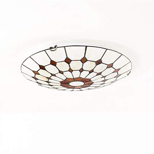 klassische LED Energiespar-Deckenleuchte 2×6 Watt Deckenlampe Jugendstil