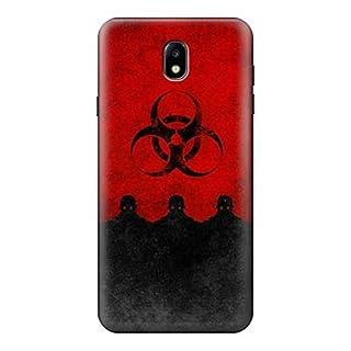 Biohazards Virus Red Alert Case Cover For Samsung Galaxy J7 (2018), J7 Aero, J7 Top, J7 Aura, J7 Crown, J7 Refine, J7 Eon, J7 V 2nd Gen, J7 Star