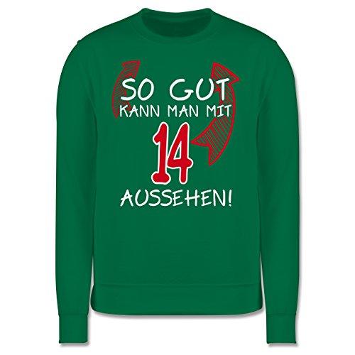 Geburtstag - So gut kann man mit 14 aussehen - Herren Premium Pullover Grün