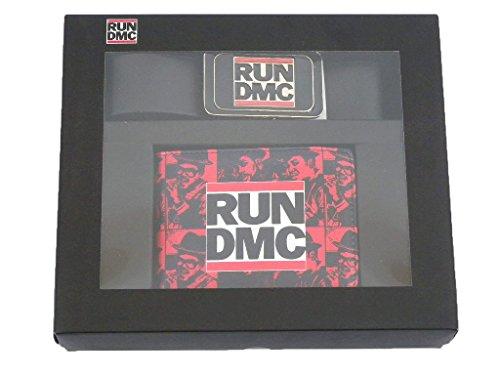 Run DMC-Hip Hop Portafogli da uomo + cintura-Run DMC Logo-fantastica e stabile. In un Set regalo.